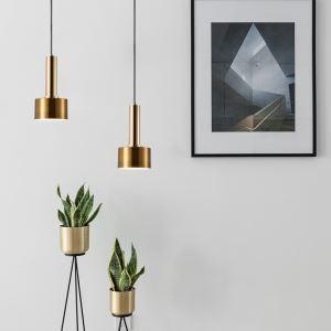 Modern Simple Pendant Light Cylinder Shape Lamp Aluminum Lighting Bedroom Light QM88302E
