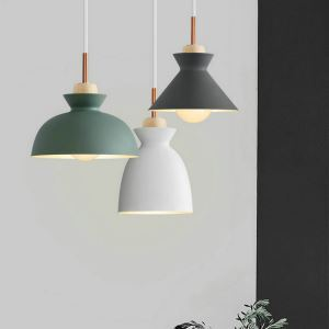 Nordic Pendant Light Macaron Adjustable Lamp Creative Metal Light Dining Room Light QM8204