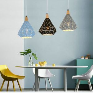 Nordic Style Pendant Light Diamond Shape Lamp Metal Lighting Living Room Bedroom Light QMJD1054