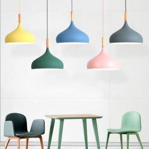 Modern Pendant Light Aluminum Macaron Lamp Home Adjustable Light Bedroom Living Room Light QM3056