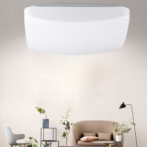 Simple LED Flush Mount Sound and Light Control Lamp Intelligent Ceiling Light Living Room Light 18W