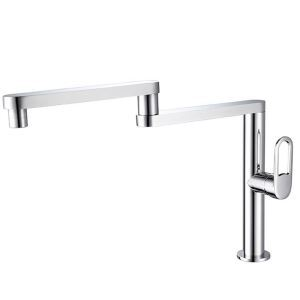 Rotatable Kitchen Faucet Foldable Kitchen Tap Water Flow Switchable Tap Chrome/Nickel Brushed/Black