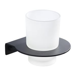 Wall Mounted Toothbrush Holder Stainless Steel Black Bathroom Accessories Single Cup Holder