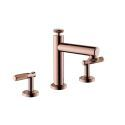 Modern Widespread Bathroom Sink Faucet Dual Handles Basin Mixer Tap Deck Mounted