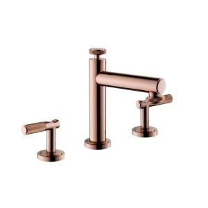 Modern Widespread Bathroom Sink Faucet Dual Handles Basin Tap Deck Mounted