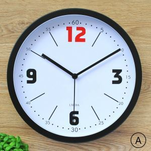 Large Number Wall Clock Modern Round Non Ticking Clock Wall Decor Clock LTB