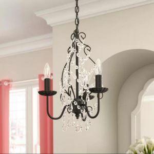 Vintage Crystal Chandelier Luxury Elegant Pendant Light Living Room Bedroom Lamp QM44135