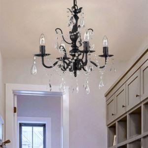 Vintage Crystal Chandelier Elegant Light Luxury Home Lighting Living Room Bedroom Lamp QM9906