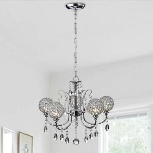 Luxury Crystal Chandelier Nordic Creative Round Shape Light Living Room Bedroom Lamp QM9916