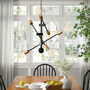 Artistic Chandelier Nordic Pendant Light Creative Iron Lighting Living Room Hallway Lamp QM9918