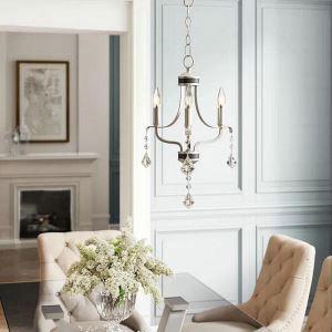 Elegant Crystal Chandelier Nordic Creative Light Modern Simple Light Bedroom Dining Room Lamp QM9932