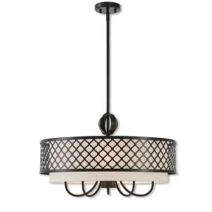 Crystal Chandelier Nordic Style Home Light Lattice Fabric Shade Lamp Living Room Study Lighting QM9923