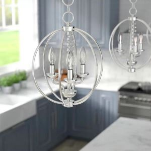 Crystal Chandelier Light Nordic Pendant Light Lantern Shape Lamp Dining Room Bedroom Light QM9937