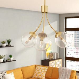 Nordic Chandelier Creative Pendant Light Minimalist Glass Light Hallway Dining Room Lamp QM9921