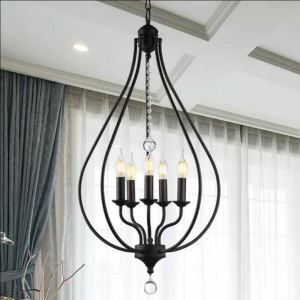 Crystal Chandelier Nordic Pendant Light Metal Bud Shape Lamp Hallway Kitchen Lighting  QM9936