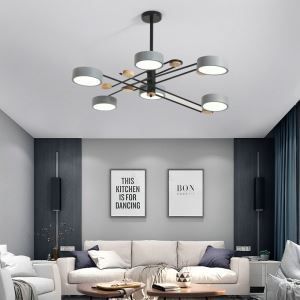 Nordic LED Pendant Light Creative Chandelier Macaron Acrylic Lamp Living Room Bedroom Light QM8604