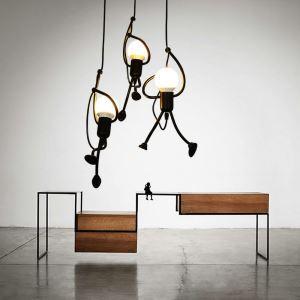 Modern Pendant Light Creative Little Man Shape Lamp Individual Home Light Bar Bedroom Lamp QM2099