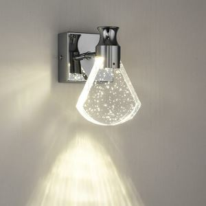 Nordic LED Wall Light Crystal Bubble Wall Sconce Sector Shape Wall Lamp Hallway Bedside Light QM6006