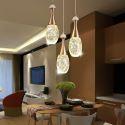 Seeded Glass Teardop Cluster LED Pendant Light Dining Room Lighting QM8001
