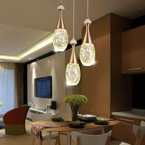 Nordic Crystal LED Pendant Light Bottle Shape Light Bubble LED Light Bedroom Living Room Light QM8001