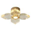 Luxury Crystal LED Flush Mount Nordic Bubble Petal Lamp Living Room Dining Room Light QM6008