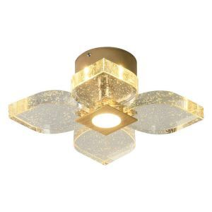 Luxury Crystal LED Flush Mount Nordic Bubble Petal Lamp Living Room Dining Room Light QM6008