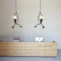 Modern Simple Pendant Light Little Man Shape Lamp Creative Light Bar Hallway Light QM2099