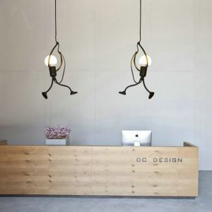 Modern Simple Pendant Light Little Man Shape Lamp Creative Light Bar Hallway Light QM2099
