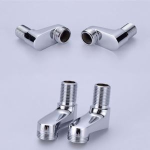 Chrome Lengthen Faucet Accessories Pipe Fitting Parts Shower Accossories