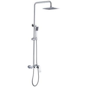 Modern Shower Faucet System Rainfall Shower Tap System Hollow Design Faucet Chrome/Black