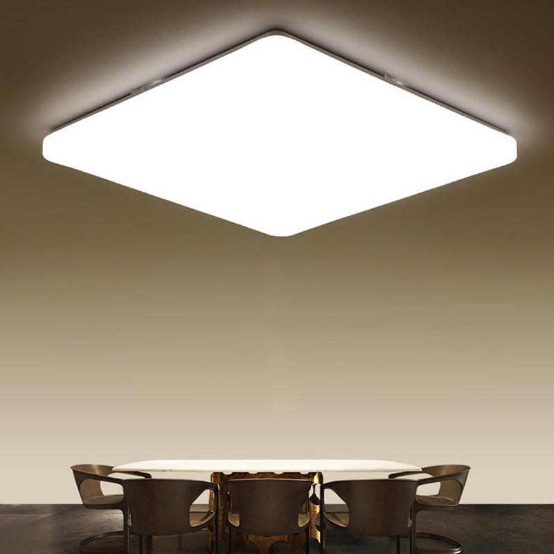 Super Thin Led Flush Mount Modern Square Ceiling Light