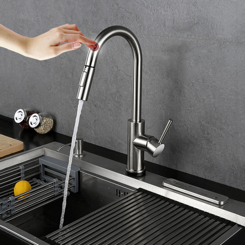 Intelligent Touch Sensor Kitchen Faucet 304 Stainless Steel ...