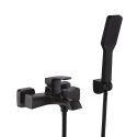 Wall Mount Bath Shower Mixer Tap Black Shower Faucet Set ORB / Chrome Handheld Sprayer