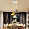 Nordic Simple Macaron Pendant Light Three Lights Iron Arti Restaurant Cafe Bar QM-8204