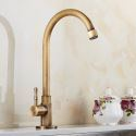 Antique Brass Sink Faucet Brushed Single Hole Cold Tap