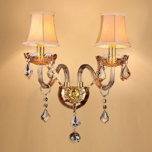 European Crystal Sconce Elegant Two-Light Wall Light Hallway Stairs HQ334