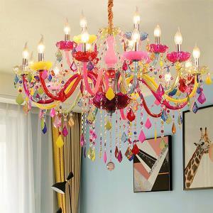 Colourful European Style Chandelier Luxury Pendant Light Kids Room Bar