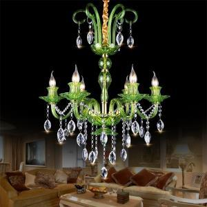 Modern European Crystal Chandelier Simple Pendant Light Dining Room Living Room HQ 9040