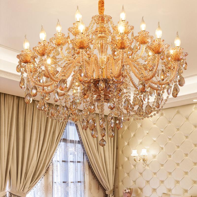 European Crystal Chandelier Luxury, Orange Crystal Chandelier
