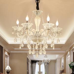 European Crystal Chandelier Elegant Pendant Light Living Room Dining Room HQ 9069