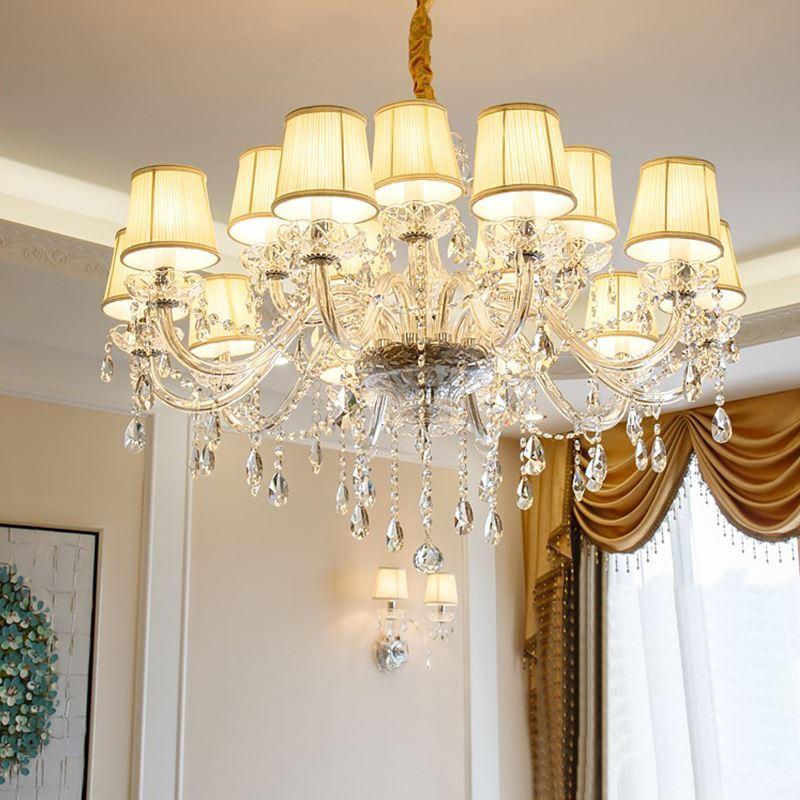 european simple crystal chandelier modern pendant light