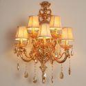 Luxury Crystal Sconce European Wall Light Zinc Alloy Five Light Living Room Aisle