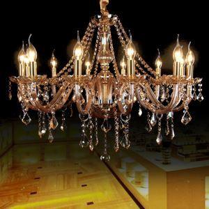 Large Crystal Chandelier Luxury European Pendant Light Bedroom Living Room HQ 9014