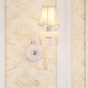 Classic European Style Crystal Sconce Elegant Wall Light Hallway Bedroom