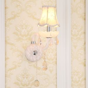 Classic European Style Crystal Sconce Elegant Wall Light Hallway Bedroom