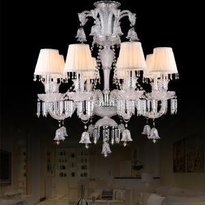 Classic European Crystal Chandelier Ring Bells Pendant Light Bedroom Living Room Study HQ9044