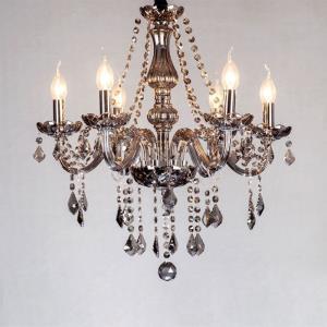 Elegant Crystal Chandelier European Style Glass Pendant Light Living Room Hotel Rooms
