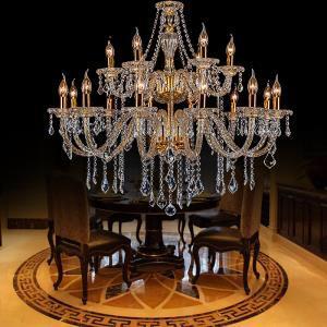 Luxury Golden European Crystal Chandelier Threaded Arm Ceiling Light Bedroom Living Room Study