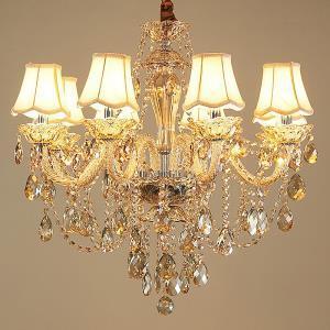 Crystal Chandelier Cognac Ceiling Light Luxury European Living Room Dining Room Bedroom