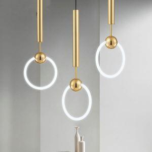 Nordic Creative Lighting Single Glass Knocker Pendant Light Bedroom Living Room Light